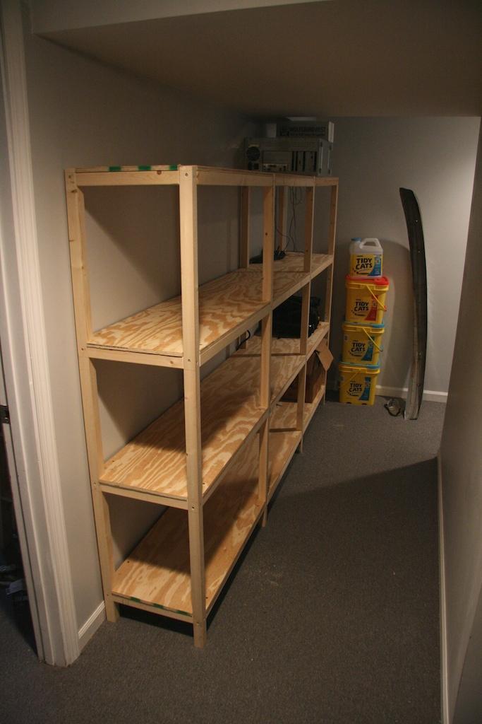 Build Your Own Storage Shelves Basement