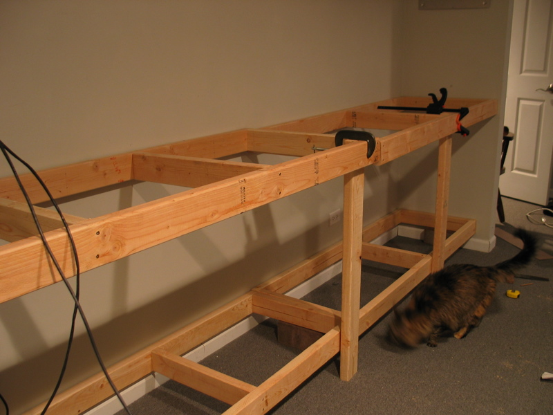 building workbench on wall