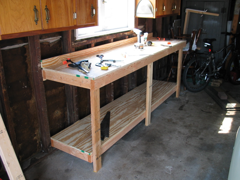 garage bench ideas