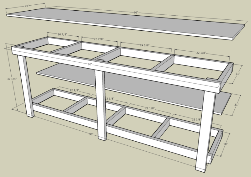 Free garage workbench plans